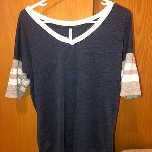Navy/White/Gray T-Shirt